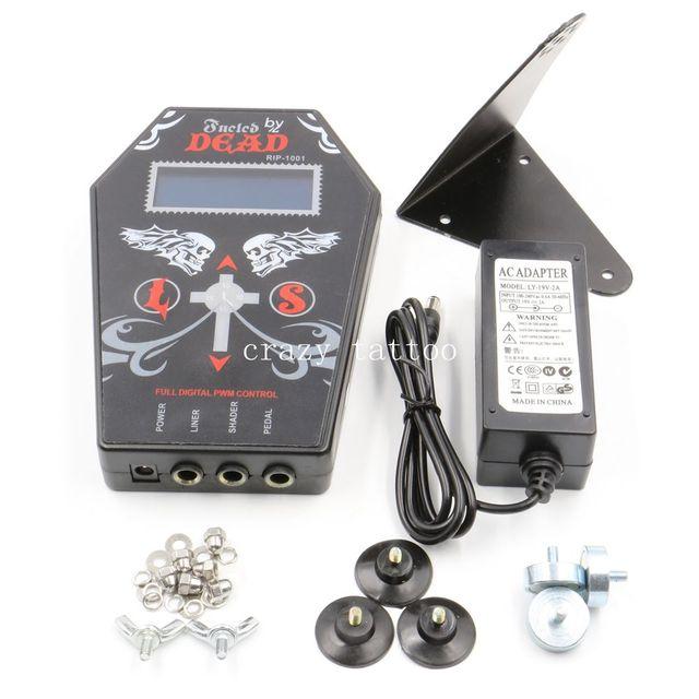 Professional Tattoo Power Supply Black Dual LCD Tattoo Power Supply For Tattoo Machine