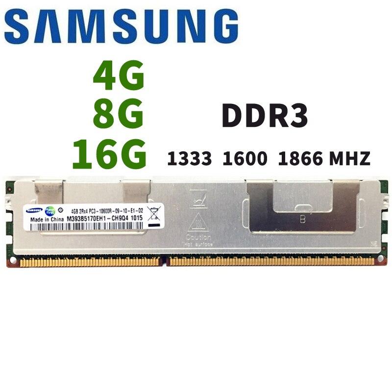 Samsung4GB 8GB 16GB DDR3 PC3 1066Mhz 1333Mhz 1600Mhz 1866Mhz Server memory 8G 16G 1333 1600 1866 ECC REG 10600 14900 12800 RAM
