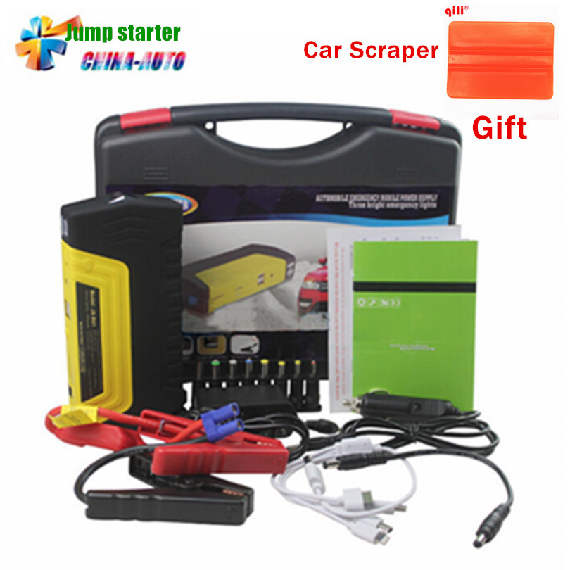 High capacity car battery charger pack car jump starter auto emergency power bank for starting ...