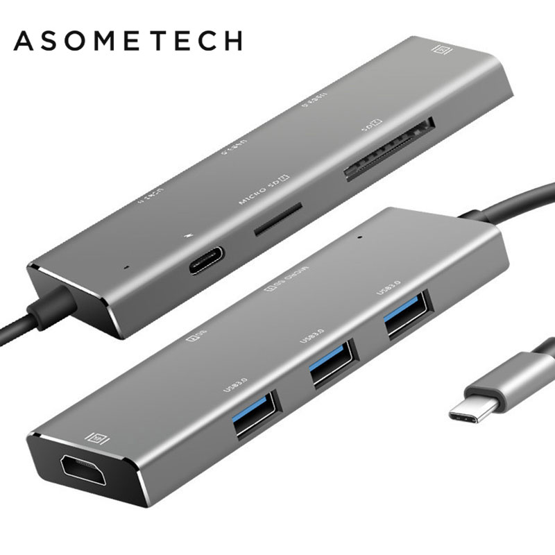 цена на USB-C Type-C HUB To USB 3.0 HDMI Card Reader Adaptor For Macbook Pro Samsung Galaxy S8/S9 Huawei P20 Pro Xiaomi 8 Type C USB HUB