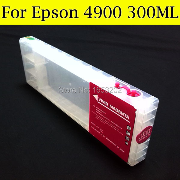 HOT Selling Refillable Ink Cartridge For Epson 4900 Cartridge Tinta With ARC Chip For Epson 4900 Printer Plotter free shipping t0540 t0549 refillable ink cartridges with arc chip for epson photo r800 r1800 printer