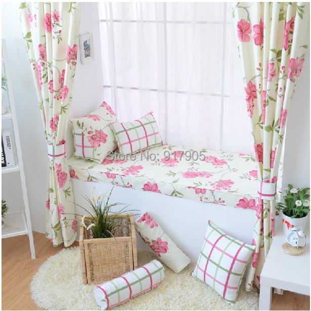 Hot Selling Romantic Rustic Vintage Floral Print Curtains For Living Room The Bedroom Designer Blackout In From Home Garden