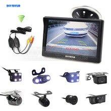 DIYSECUR Беспроводной 5 дюймов заднего вида монитор автопарк Vedio + светодиодный Ночное видение резервного копирования Обратный Камера HD Автомобильная камера заднего вида