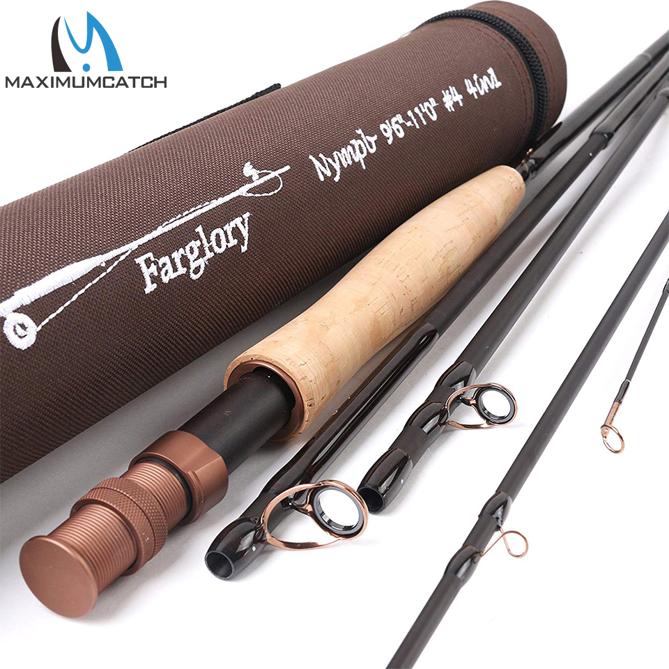 Maxcatch 4in1/2in1 Nymph Fly Fishing Rod with Extra Extension Section with Cordura Tube 9'-10'6' '/ 9'6-11'0 4-6 Sec