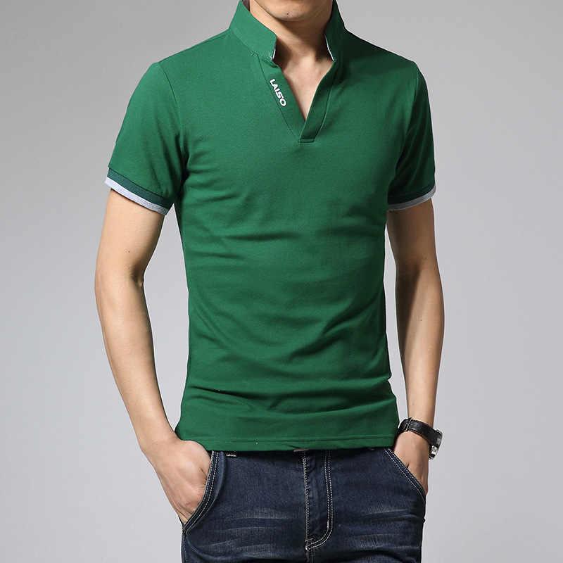 Новое поступление 2019, хлопковая Мужская рубашка поло, топы, модный бренд размера плюс, короткий рукав, черная, белая рубашка поло, Homme Camisa 5XL