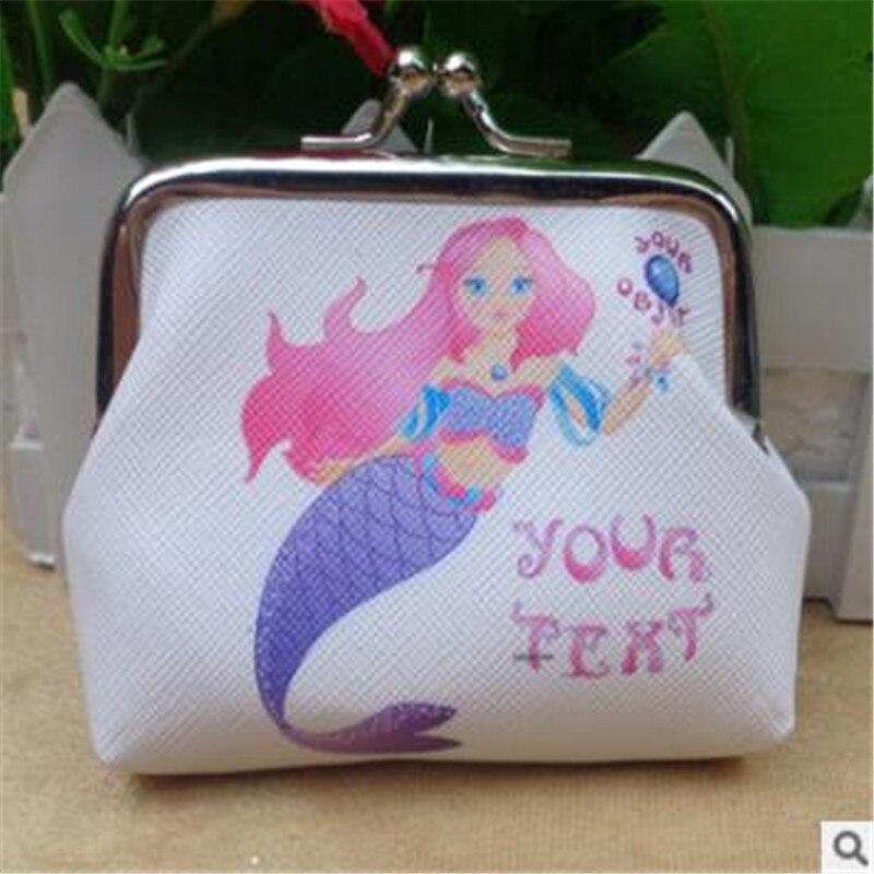 PU Mermaid Coin Purse Wallet Kids Girl Purse Pouch Women Handbag Party Zipper Clutch Bag Earphone Package Money Bag