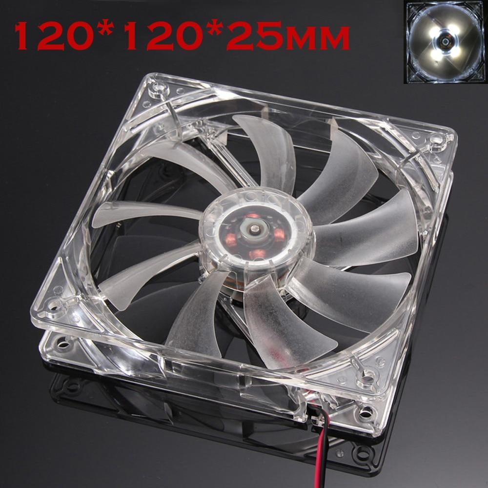 Quiet 12cm/120mm/120x120x25mm 12V Computer/PC/CPU Silent Cooling Case Fan 6M3 Drop Shipping