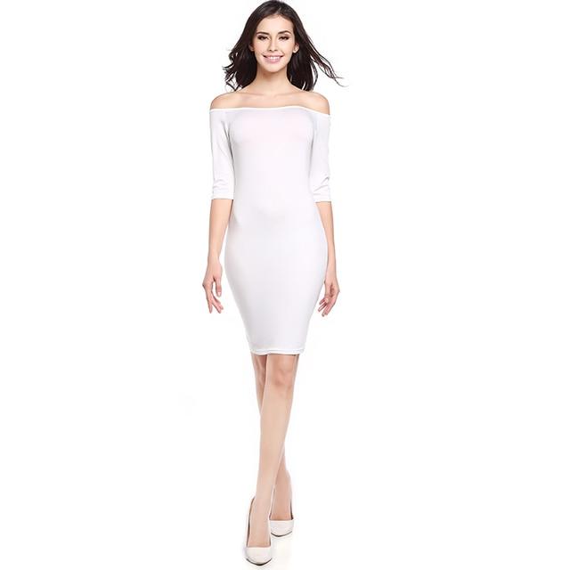 Liva Girl 2017 Summer Women Plus Size Bodycon Dress White Dress For