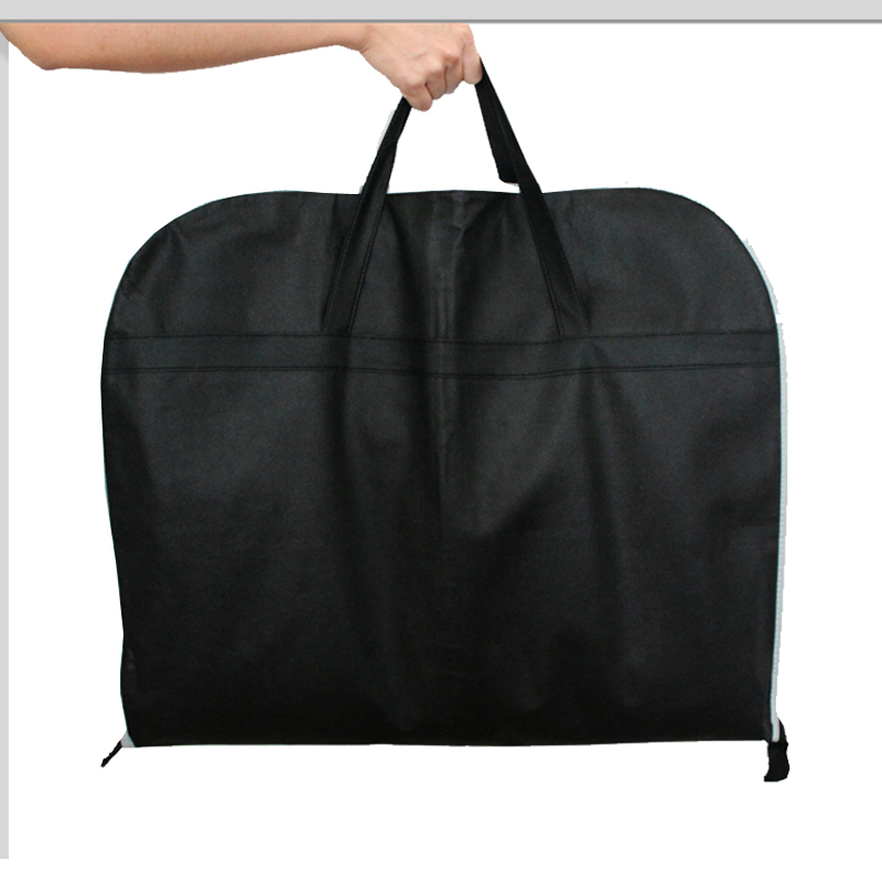 ceļojuma soma Melns Neausts audums Biznesa kleita Apģērbu maisiņš pārnēsājams Elpojošs uzvalku soma Izturīgs čemodāns un ceļojumu somas