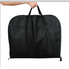 121X60cm Black Non-woven fabric Business Dress Garment Bag portable Breathable Suit Bag Durable Men'S Garment Suit Travel Bag недорого