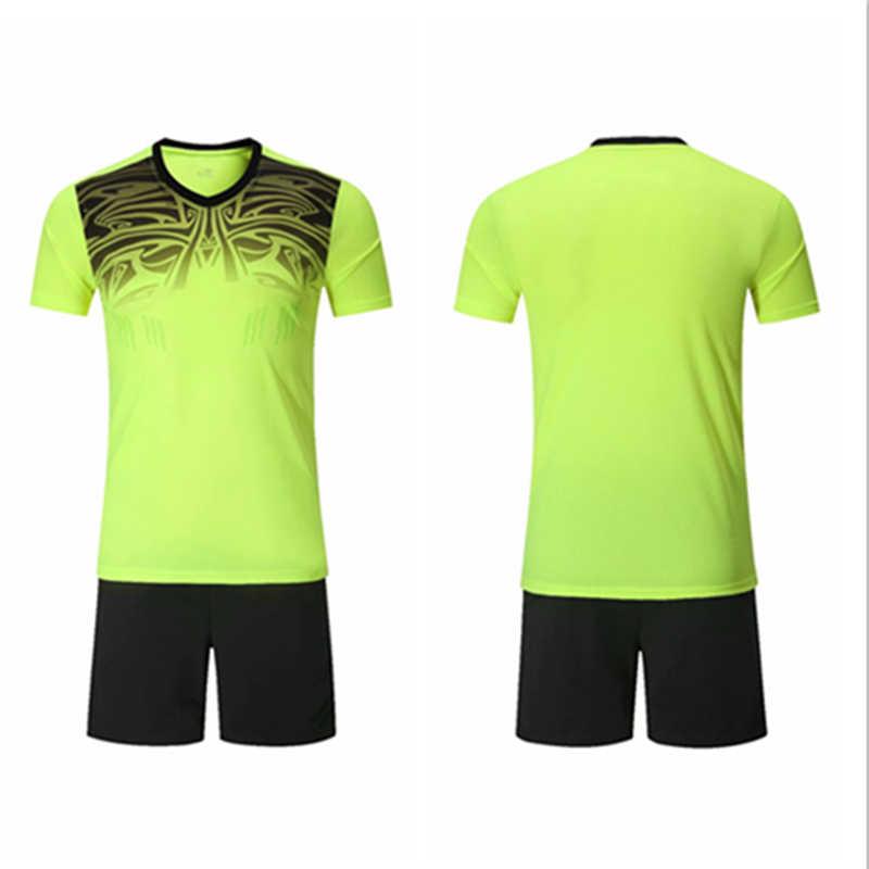 3b8c4cb26e1 New soccer jerseys 2018 2019 men's football jerseys training suit dress blank  soccer jerseys sets men