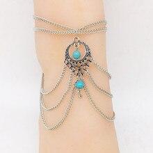 Boho Ethnic Beads Anklets Chic Tassel Foot Chain Anklet Bracelet Body Jewelry Anklets For Women