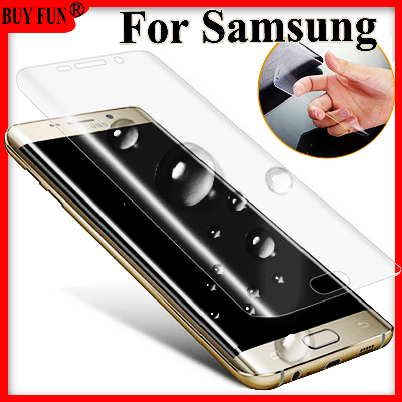 For <font><b>samsung</b></font> galaxy s7 edge protective s6 s 6 <font><b>7</b></font> Screen protector on 7s 6s s7edge s6edge plus screenprotector Not Tempered <font><b>Glass</b></font> image