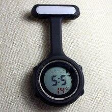 Новые цифровые часы для медсестер модные силиконовые медицинские часы нагрудные Доктор Брошь карманные часы TT@ 88