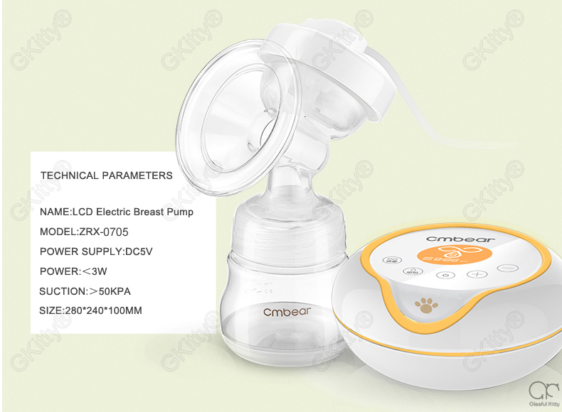 Cmbear Advanced Intelligent LCD electric breast pump breast feeding automatic massage USB double bottles Electric Breast Pumps