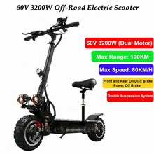 Powerful Off road Electric Skateboard Folding Electric Scooter Adults foldable Electric bike for adult with seat 1600W