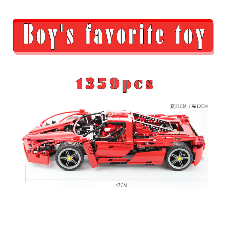 1359pcs Bela 9186 Enzo 1:10 DIY Car Model Building Blocks Sets Educational Jigsaw Construction Bricks Gift toys legoings 8653