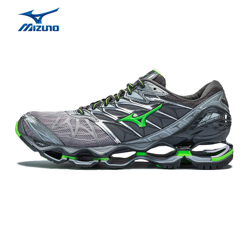 MIZUNO Men WAVE PROPHECY 7 Cushion Running Shoes Stable Sports Shoes Breathable Sneakers J1GC180037 XYP616 mizuno men rebula v3 ag professional cushion soccer shoes sports shoes comfort wide sneakers p1ga178603 yxz069