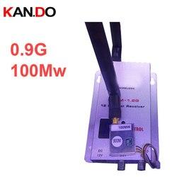 100mw AV sender 0.9 Ghz transceiver 4ch,900mhz CCTV transmitter 0.9G drone Transmitter Receiver 0.9Ghz transmitter FPV