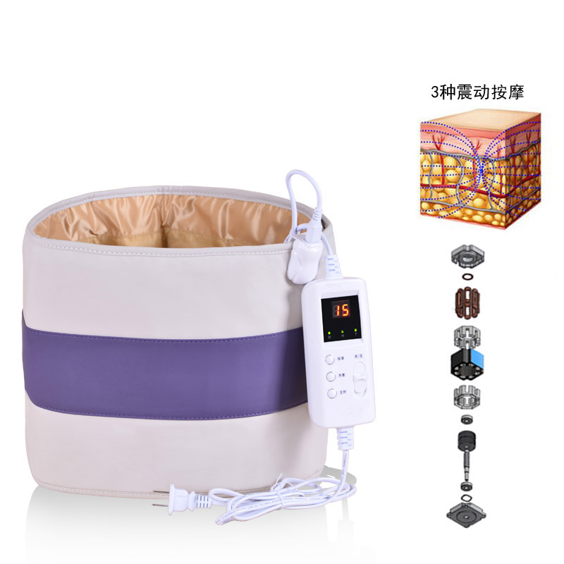 Waist Vibrating Massager Moxibustion Massage Device Abdominal Warm Electric Heating Belt Trainer Tool Health Therapy Care electric waist massage belt far infrared heating therapy pad body care mat abdominal belt health care tool