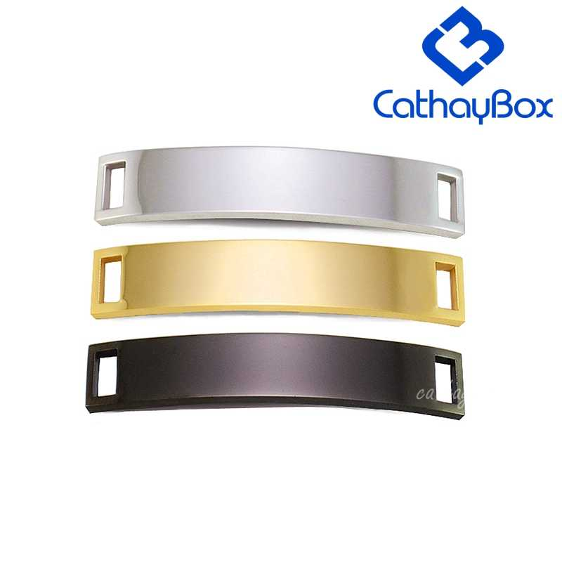 10PCS/Lot  Gold Tone Polished Silver Stainless Steel Blank ID Plate Tag Plaque For Custom Make Bracelet