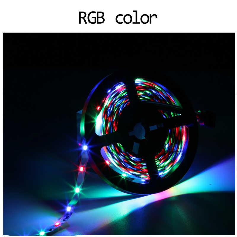 DC 12V RGB 5 メートル防水 led ストリップ 2835 赤青緑黄 1-5M 60LED/ M 柔軟なリボン RGB ストライプ 1 メートル 2 メートル 3 メートル 4 メートル 5 メートルテープ