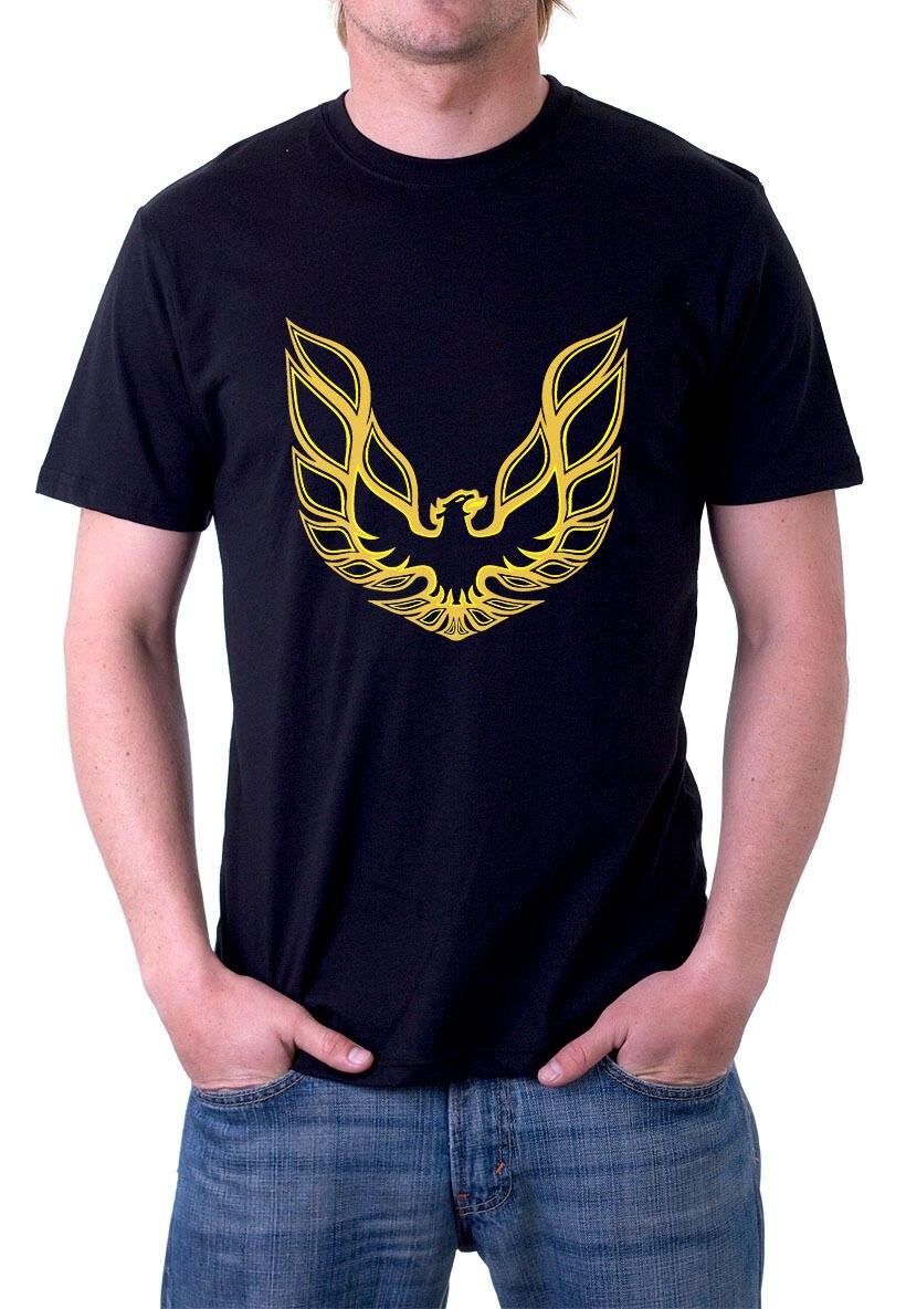 La pontiac firebird t shirt automobile muscle car logo tee dos adultes casual t