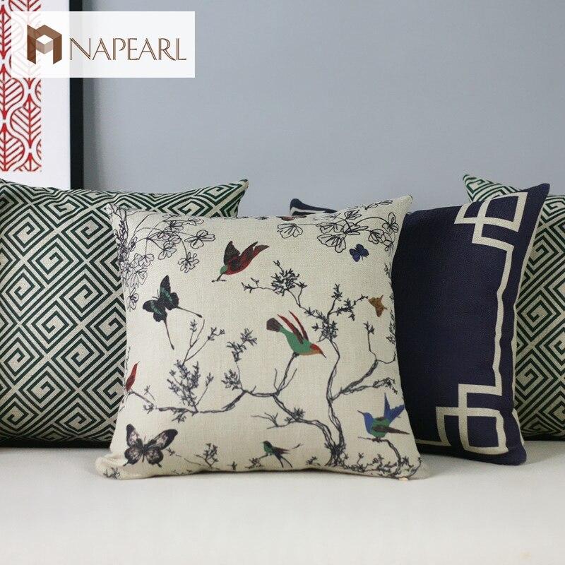 Elegant Sofa Pillows: American Style New Classical Rustic Elegant Geometry