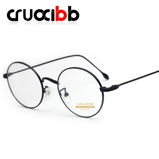 063d646b851 CRUOXIBB Vintage Round Eyeglasses Optical Spectacle Gold Frames  Prescription Eyewear Retro Clear Lens Glasses for Male Female