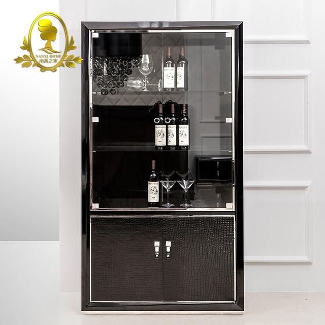 Charmant En Bois Armoire à Vin Salon Moderne Meuble De Vin Rouge Armoire De  Rangement Meubles De