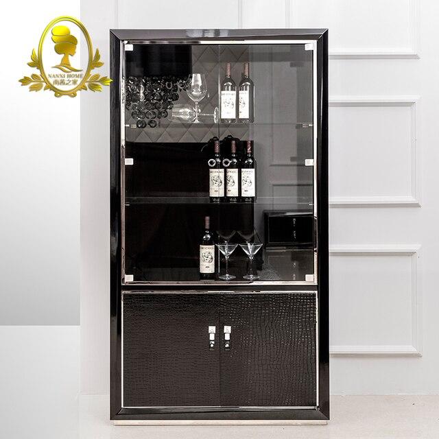 Wooden Wine Cabinet Living Room Modern Red Storage Home Furniture