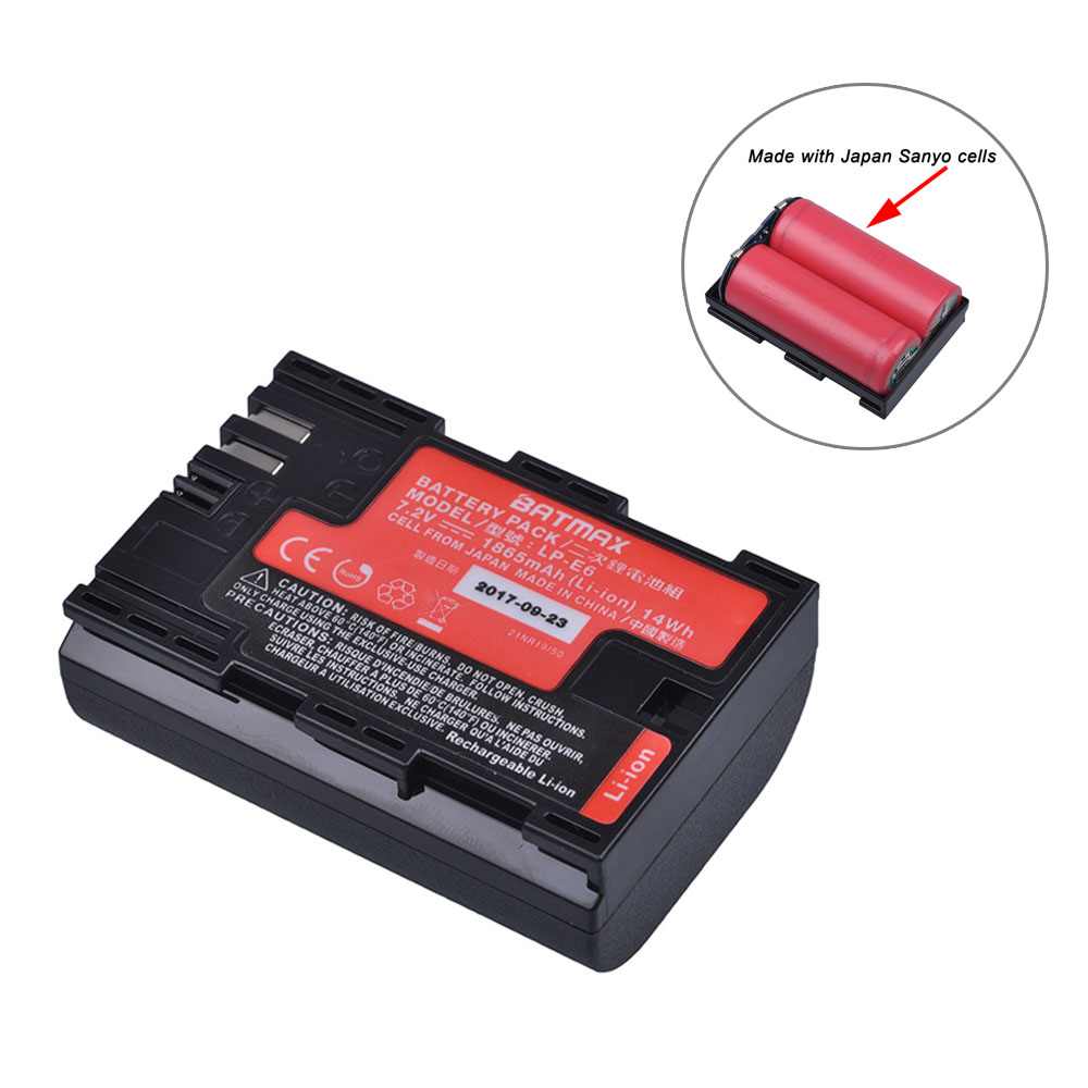 1 unid alta capacidad Real LP-E6 LP E6 LP-E6N batería Japón Sanyo celular para Canon EOS 6D 7D 5DS 5DSR 5D Mark II IV 5D 60D 60Da 70D
