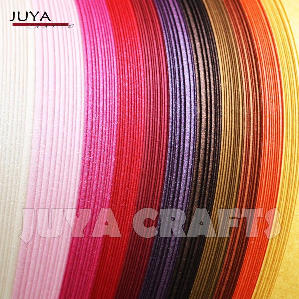 12 Colors, Paper Width 7mm JUYA Metallic Paper Quilling Set 2//3//5//7//10mm Width Available