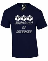 EVERYTHING IS AWESOME MENS T SHIRT FUNNY QUALITY DESIGN LEGO GAMER GIFT PRESENT Comfortable t shirt,free shipping cheap tee