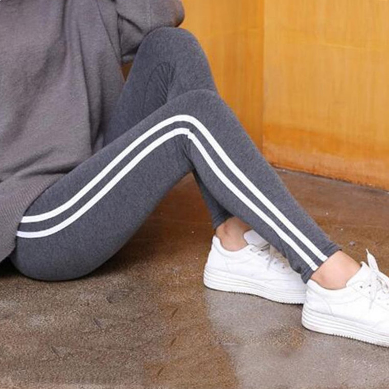 FSDKFAA Color Block Wide Leg Pants Women Black and White Striped Loose Trousers 2018 Spring New Mid Waist Elegant Zipper Pants