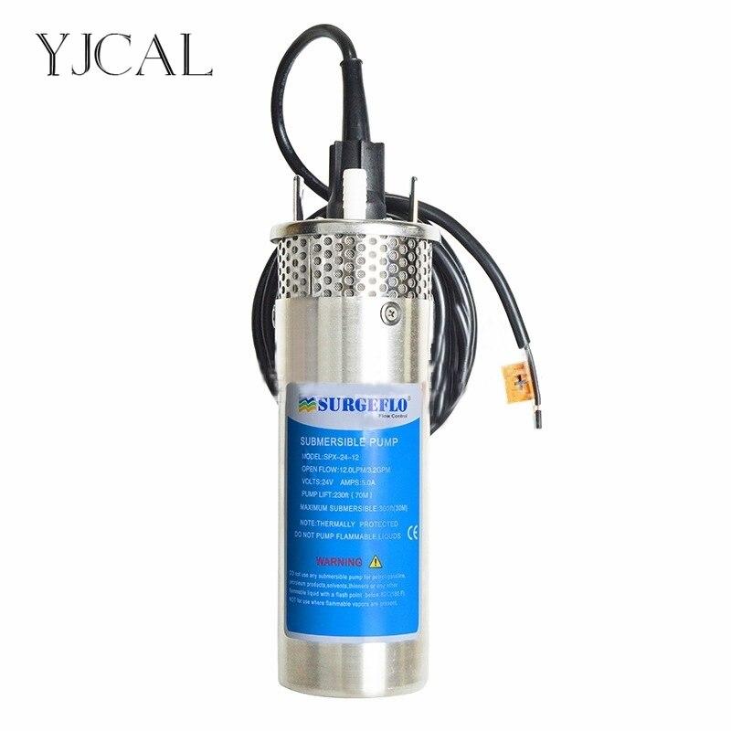 24V DC Submersible 2.1GPM Deep Water Pump Alternative Energy Solar Battery-EAN