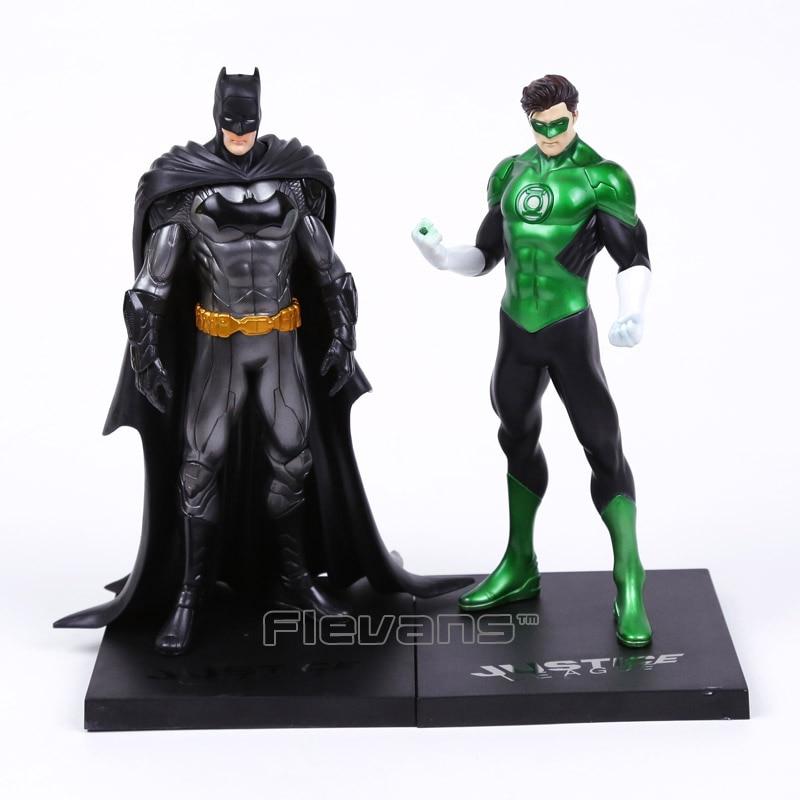 Artfx + Patung Green Lantern/Batman 1/10 Skala Digunakan Dicat Sosok Collectible Model Mainan