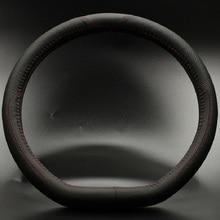 Mężczyźni D design w stylu górna warstwa krowa prawdziwej skóry kierownicy samochodu obejmuje — 3 kolory 15 rozmiar calowy XRZ403