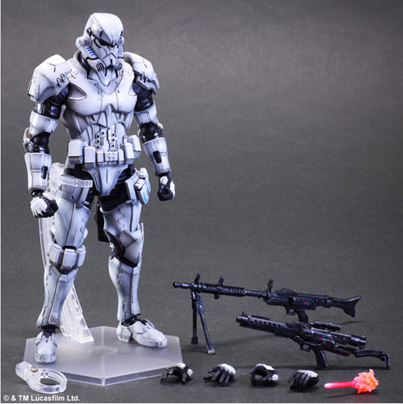 Free Shipping New Square Enix VARIANT Play Arts Kai Star Wars Stormtrooper Action figure Toy model fans new square enix pa change play arts change star wars storm white soldiers bulk