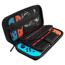 Get more info on the For Nintendo Switch Storage Bag Double Hard Case Compartment Game Card Four Corner Package Host Protection Protective Carry