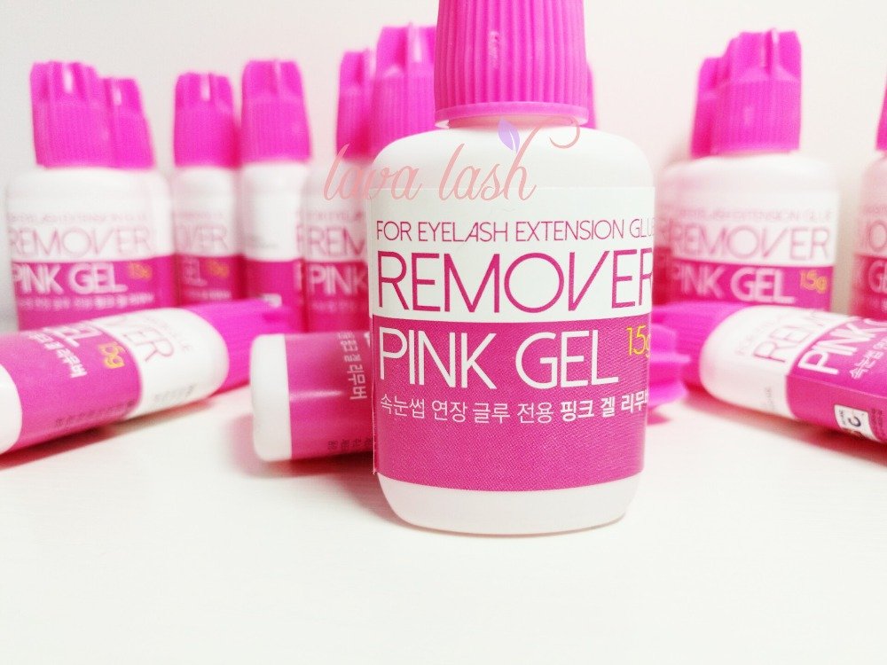 Free Shipping Korea Pink Gel Remover For Eyelash And Eyebrow Extensions Glue 15g/bottle Eyelash Extensions Glue Remover