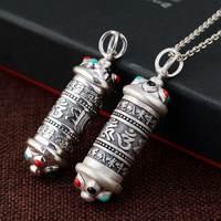 FNJ 925 Silver Gawu Box Pendant Buddha New Fashion Pure Original S925 Thai Silver Pendants Women for Jewelry Making