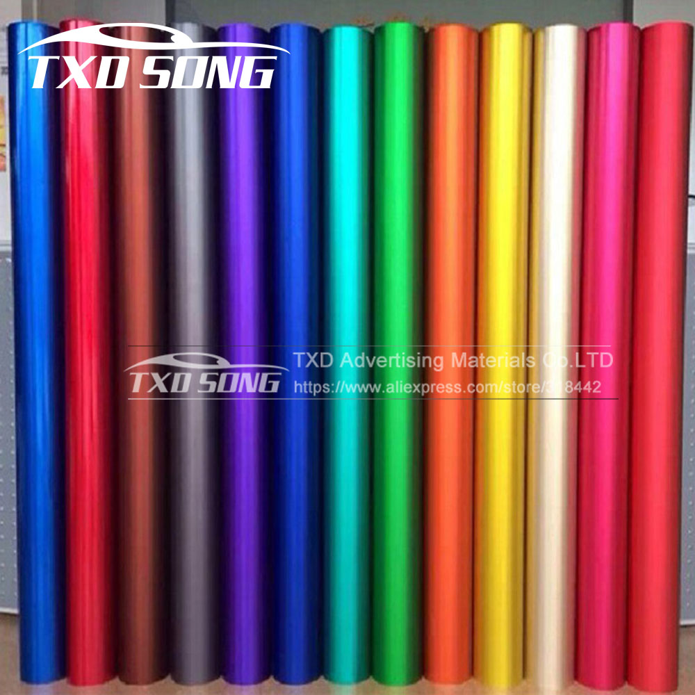 Car Styling Polymeric PVC Matte Chrome Vinyl Car Wraps Sticker Color Changing Car Sticker With Air