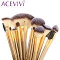 Acevivi marca 18 unids/pinceles de maquillaje cosmético profesional fundación polvo delineador de ojos cepillos superior compone el cepillo set $ y