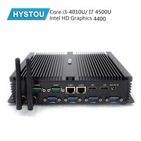 Hystou безвентиляторный мини Корпус для ПК I3 4010U 7th поколения i7 4500U 4 ядра 2 * DDR3L Мини компьютер Windows 10 Pro HDMI HTPC мини ПК неттоп 4 Мб Кэш
