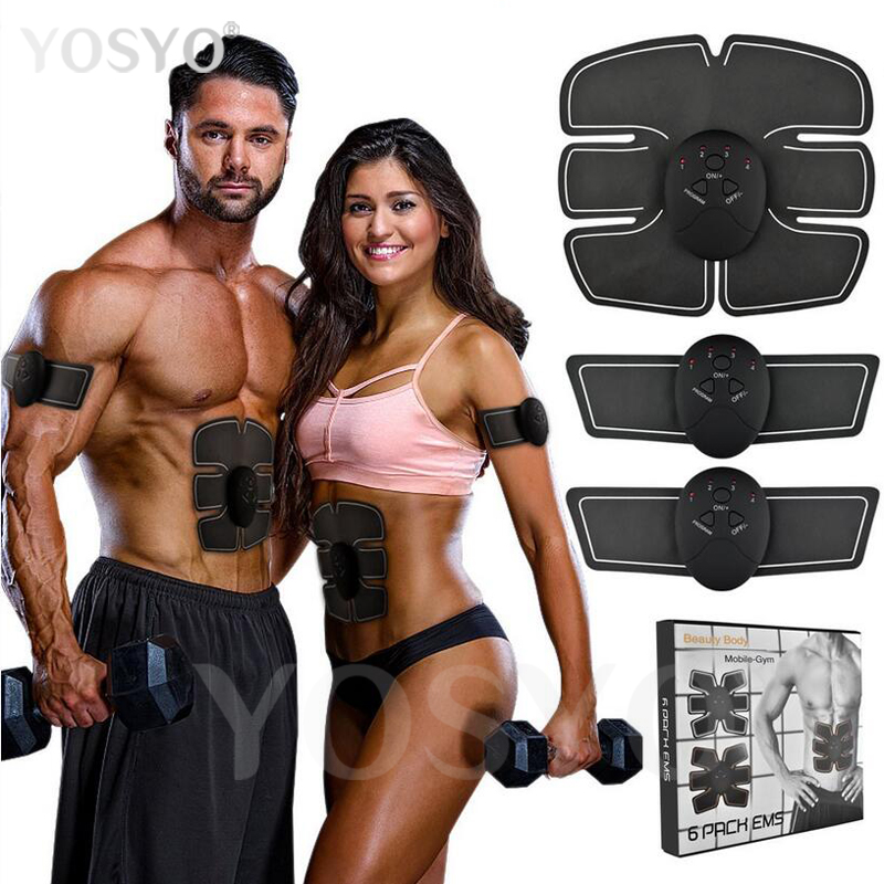 Masajeador de pulso eléctrico inteligente EMS estimulador muscular Abdominal Dispositivo de ejercicio pérdida de peso adelgazante entrenamiento masajeador