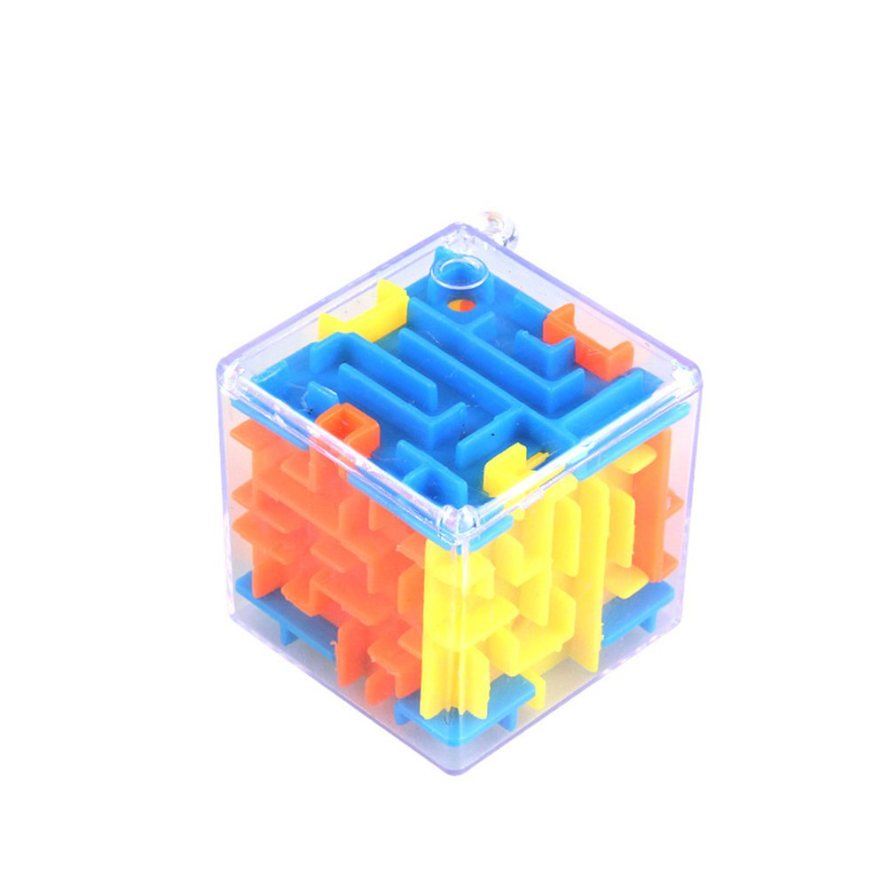 3D Mini Maze Magic Cube Puzzle Speed Cube Labyrinth Rolling Ball Toys Puzzle Game Cubos Magicos Learning Toys For Children