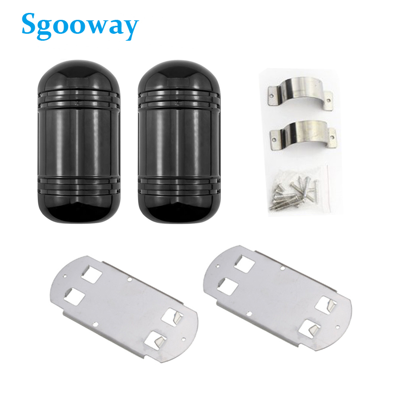 Sgooway 100M Beam Sensor Alarm Wired Dual Beam Photoelectric Infrared Detector Ir Barrier Waterproof Outdoor