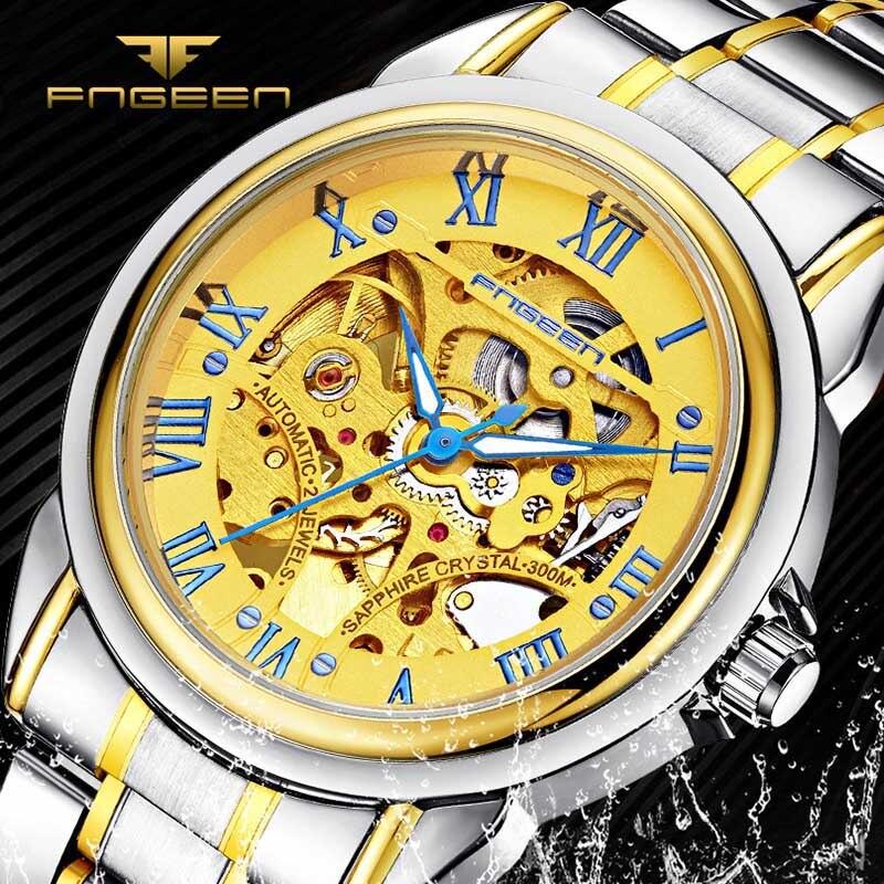 Rome Hollow luxe skeleton automatische liquidatie mechanische - Herenhorloges - Foto 1