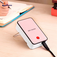 Mini Warm Air Elektrische Kachel Draagbare Bureau Ventilator Fire-bescherming Materialen Handheld Elektrische Verwarming Apparaat Geen